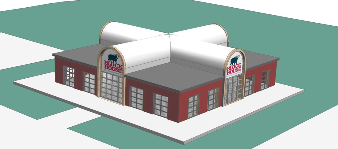 Freestander Restaurant Entwurf