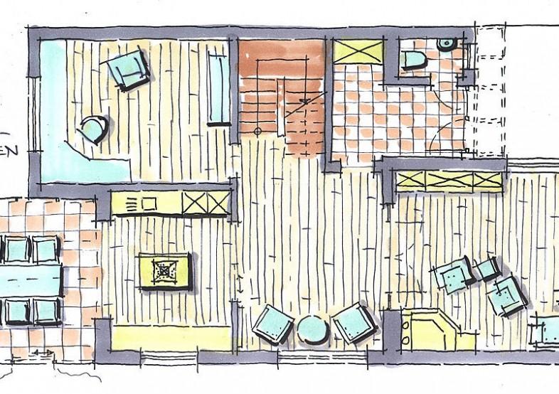Skizzen Küchenplanung